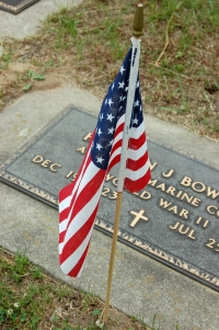 Flag and Grave Marker